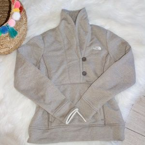 The North Face Brown Button Sweater - Small